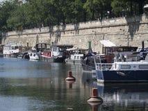 Canal Saint-Martin, Paris Royalty Free Stock Photos