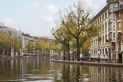 The Canal Saint-Martin. Stock Photo