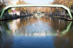 Canal Saint Martin, Paris. Royalty Free Stock Photography