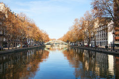 Canal Saint Martin, Paris. Royalty Free Stock Image