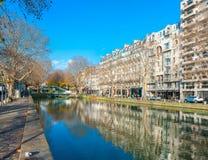 Canal Saint-Martin Royalty Free Stock Photos