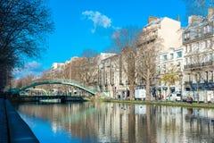Canal Saint-Martin Stock Photos