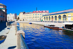 Canal in Saint Petersburg Royalty Free Stock Images