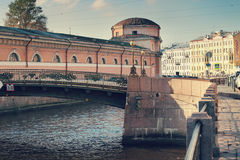 Canal in Saint Petersburg Royalty Free Stock Photography