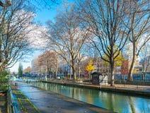 Canal San Martín Foto de archivo
