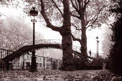 Canal San Martín de París fotografía de archivo
