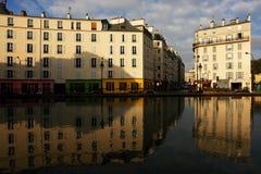 Canal San Martín de París imagen de archivo libre de regalías