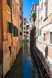 Canal San Massimo runs among residential houses. In the centre of the old city Padua Royalty Free Stock Image