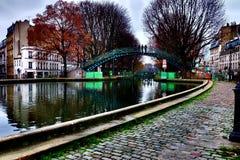 Canal sant martin 2. París, canal sant martin en invierno Stock Photo