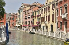 Canal in Santa Croce Stock Photo