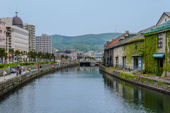 Canal Sapporo Japón de Otaru Imagen de archivo libre de regalías