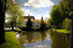 Edam canal royalty free stock photo