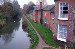 Canal scene in England Royalty Free Stock Photo