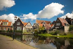 Canal scene in Marrken. A canal scene in Marrken at spring time stock images