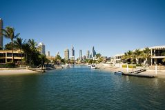 Canal Scene, Surfers Paradise Royalty Free Stock Photography