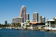 Canal Scene, Surfers Paradise Royalty Free Stock Photos