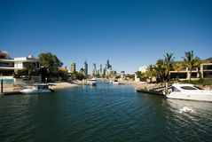 Canal Scene, Surfers Paradise Royalty Free Stock Image