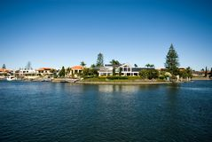Canal Scene, Surfers Paradise Stock Images