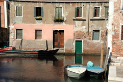 Canal scene in venice Stock Images