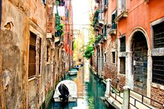Canal scene in Venice Royalty Free Stock Photography