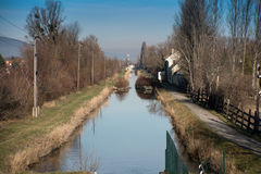 Canal scenery in Austria Royalty Free Stock Photography