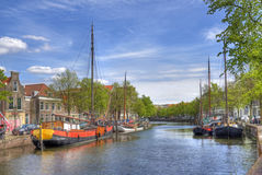 Canal in Schiedam, Holland Stock Images