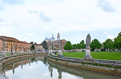The canal with sculptures Stock Image