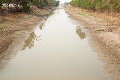 Canal secado en Tailandia Imagen de archivo