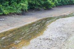 Canal seco devido ao árido foto de stock royalty free