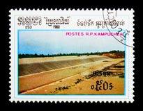 Canal, serie de projets d'eau, vers 1988 Photos stock