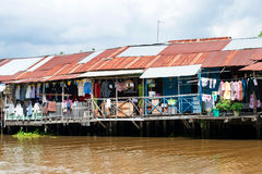 Canal Shops Bangkok Royalty Free Stock Images