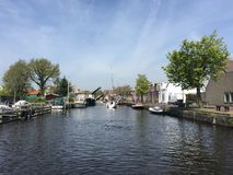 Canal in Sneek Stock Photos
