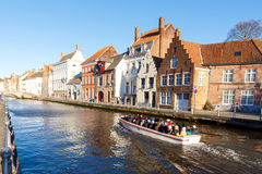 Canal Spiegel Rei, Bruges. Royalty Free Stock Photography