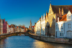 Canal Spiegelrei, Bruges, Belgium Royalty Free Stock Images