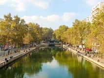 Canal St Martin, Paris, France Photo libre de droits