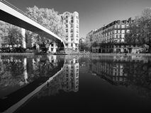 Canal St. Martin in Paris Stock Images