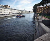Canal in St. Petersburg, Russia Royalty Free Stock Photo