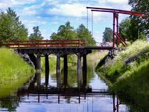 Canal stockholm to sail and deliver merchandise formerly Royalty Free Stock Photography
