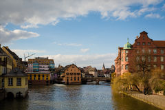 Canal in Strasbourg Royalty Free Stock Photos
