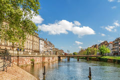 Canal in Strasbourg city center Royalty Free Stock Photo