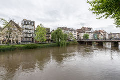 Canal in Strasbourg, France Royalty Free Stock Photography