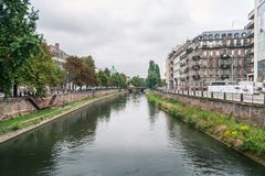 Canal in Strasbourg Stock Photo