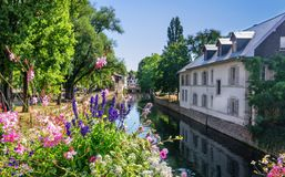 Canal in Strasbourge, France Stock Image