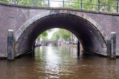 Canal Street a Amsterdam Fotografia Stock Libera da Diritti