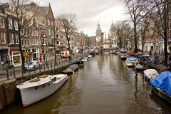Canal Street in Amsterdam Stock Image