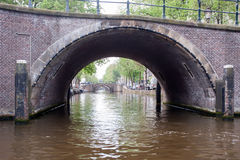 Canal Street in Amsterdam Royalty Free Stock Photography