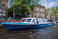 Canal Street in Amsterdam Royalty Free Stock Images