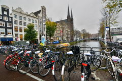 Canal street. Amsterdam. Netherlands Royalty Free Stock Photo