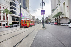 Canal Street Eastbound, New Orleans Stock Photo