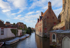 Canal street of old town, Bruges Stock Image